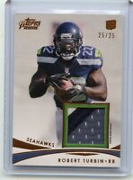 2012 TOPPS PRIME #PR-RTU ROBERT TURBIN 3-COLOR PATCH ROOKIE RC #25/25, SEAHAWKS