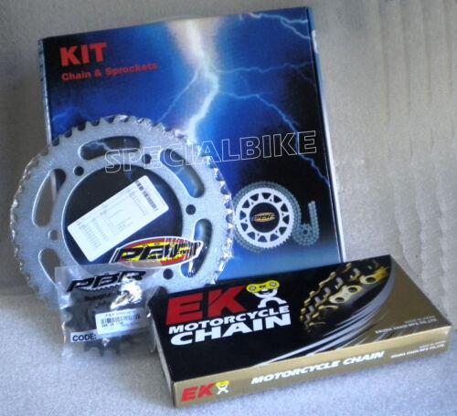 KTM 690 DUKE R 2009 /> 2014 KIT TRASMISSIONE CATENA CORONA PIGNONE PBR