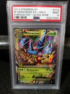 Details About Mega Heracross Ex 112 111 Xy Furious Fists Holo Pokemon Psa 9 Mint