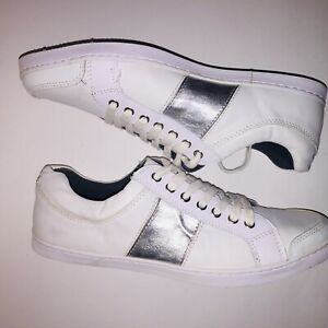ALDO US 10 White Silver Sneakers Womens
