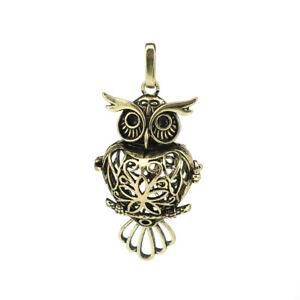 1PC-Bronze-Filigree-Owl-Beads-Cage-Locket-Pendant-Essential-Oils-Diffuser-B244