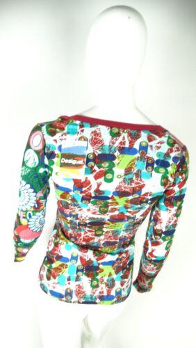 Nuova Donna Maglietta Con Xs Desigual Size Maglia Tag Etichetta RqXgnxpEPw