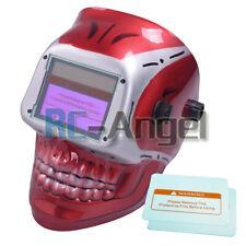 Red Skull Solar Auto Darkening Welding Helmet Arc Tig Mig Mask Grinding Welder