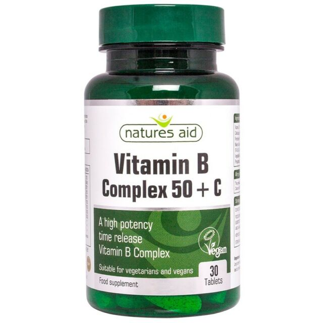 Nature's Aid Vitamin B Complex 50 with Vit C Tablets 30