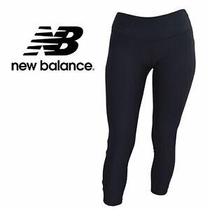 New Balance Womens Plain Black Athletic Yoga Leggings Slightly Imperfect Size XS