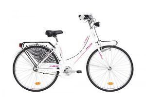 Details Zu Bici Bicicletta Urban Style Atala College 26 Donna City Bike Da Passeggio White