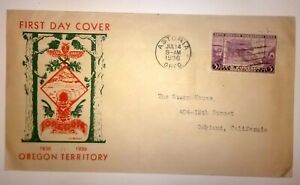 1936 Oregon Territory FDC Louis H Breker - First Day Cover