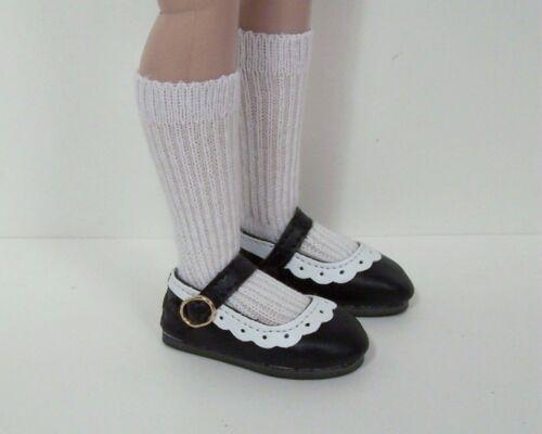 Debs 2-Tone BLACK WHITE Classic Doll Shoes For 14 Kish Chrysalis Lark Wren Song