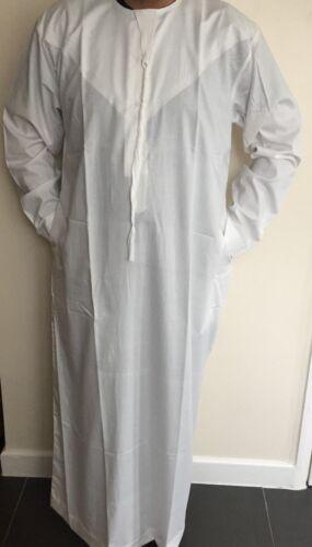 New Quality Mens Emarati Jubba Distasha Kandoora Cotton Ivory Size 52 to 62