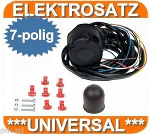 elektrosatz e satz 7 polig universal vorverkabelt ahk anh ngerkupplung ebay. Black Bedroom Furniture Sets. Home Design Ideas