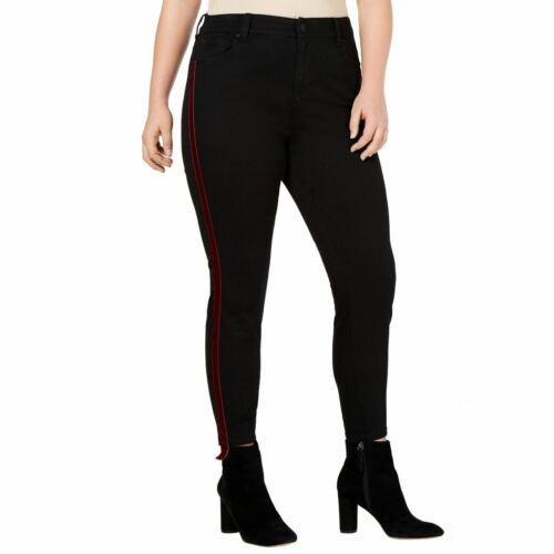 CELEBRITY PINK Women/'s Plus Size Hi-rise Velvet-trim Ankle Skinny Jeans TEDO