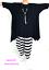 Lagenlook A-Linie Long-Shirt-Zipfel-Tunika SCHWARZ 5 Größen 42 44 46 48 50 52 54