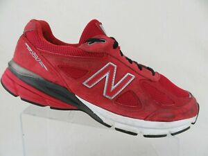 NEW-BALANCE-990v4-Red-Sz-12-D-Men-Running-Shoes