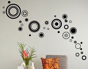 Superieur Image Is Loading 33 Trendy Circle Wall Stickers Spots Dots Rings
