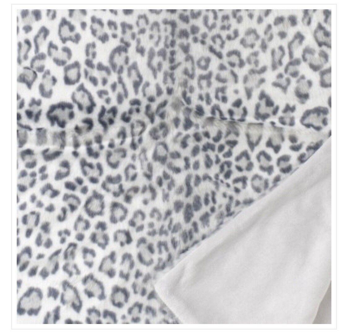 Plaid Decke NOBILIS PARIS Plaid Leopard Des Neiges PL119