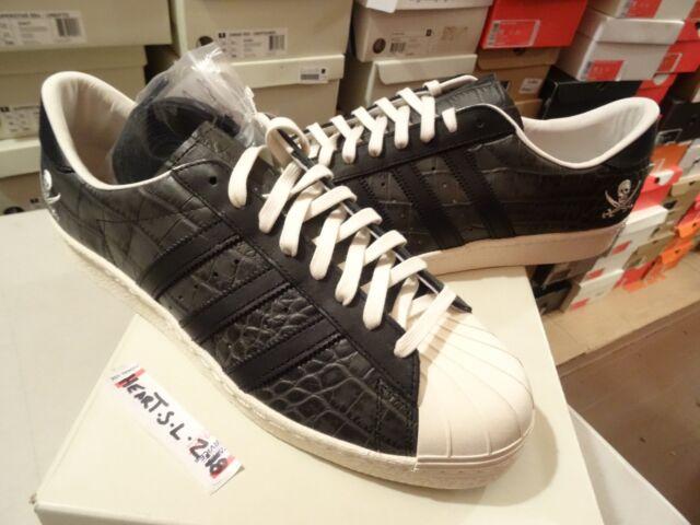NEW Adidas CONSORTIUM X NEIGHBORHOOD JAPAN SUPERSTAR 80v BLACK B34070 SZ 12.5 DS