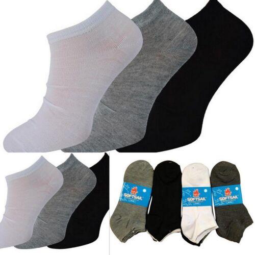12 er Paar Damen Sneaker Socken Füßlinge Kurzsocken 3 Farbenmix 35//38 38//41