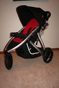euc phil ted vibe jogging stroller red single ebay. Black Bedroom Furniture Sets. Home Design Ideas