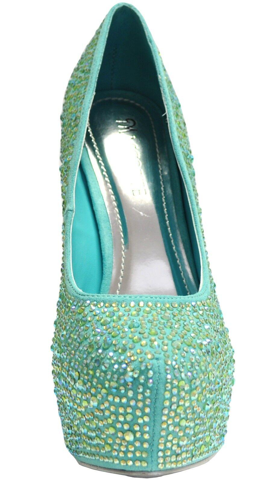 New damen schuhe evening stilettos blink rhinestones prom prom prom wedding mint Grün e52078