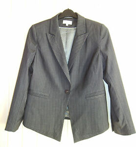 BNWOT-LADIES-M-amp-S-GREY-PINSTRIPE-JACKET-SIZE-16