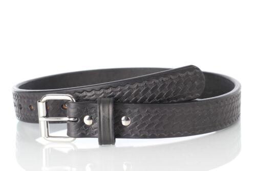 "Basketweave Embossed Gun Holster Belt USA CCW 1-1//2/""Wide Full Grain USA Leather"