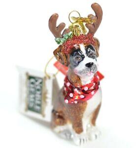 Christmas-Boxer-Dog-Glass-Christmas-Ornament-NEW-Kurt-Adler