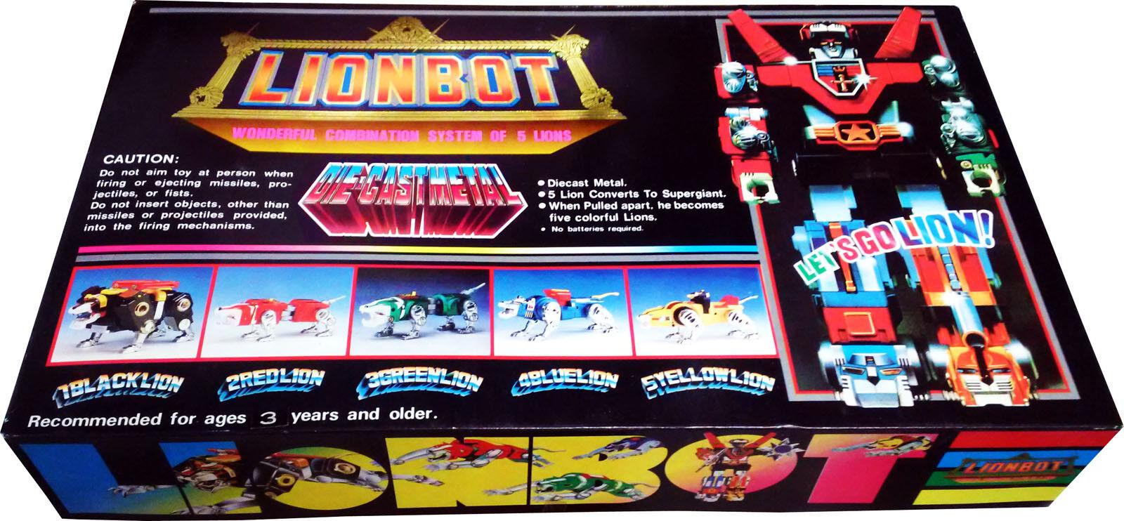 Voltron Lionbot Mini-Dimensione 8  Vintage 1985 ..5 Lions to Voltron Robot New  MIB