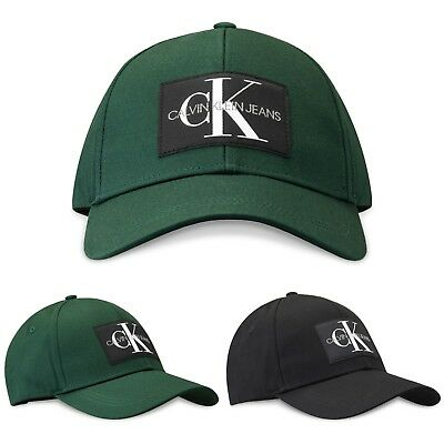 save off f32d9 072e8 Details about Calvin Klein Cap - Calvin Klein Monogram Baseball Caps -  Black, June Bug - BNWT