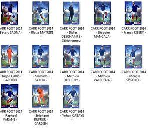 Carte collection carrefour coupe du monde football 2014 equipe de france neuf ebay - Carte coupe du monde 2014 ...