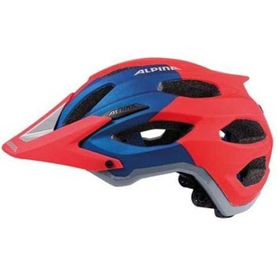 Alpina Carapax Enduro Style Mountain Bike MTB Bicycle Helmet Red bluee 57-62cms