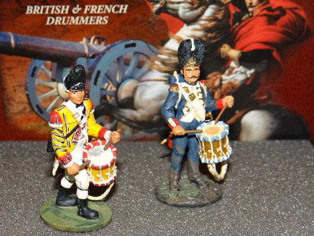 W Britain's British & French Drummers Napoleonic Wars