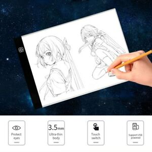Home A4 Led Digital Stepless Dimming Drawing Graphic Tablet Anime Light Box Tracing Copy Board Painting Writing Table Copy Pads