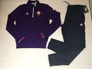 Details about 3445 Le Coq Sportif Tracksuit Fiorentina Training Tracksuit Sudadora 1721336