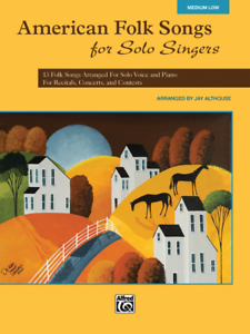 """american Folk Songs For Solo Singers"" Medium Low Voice Music Book-new On Sale! Belle Et Charmante"