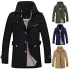 Men's Long Trench Coat Blazer Overcoat Jacket Collar Parka Winter Warm Outerwear