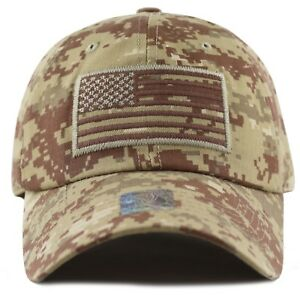 Details about The Hat Depot Low Profile Tactical Operator USA Flag Buckle  Cotton Cap 31296afbc447
