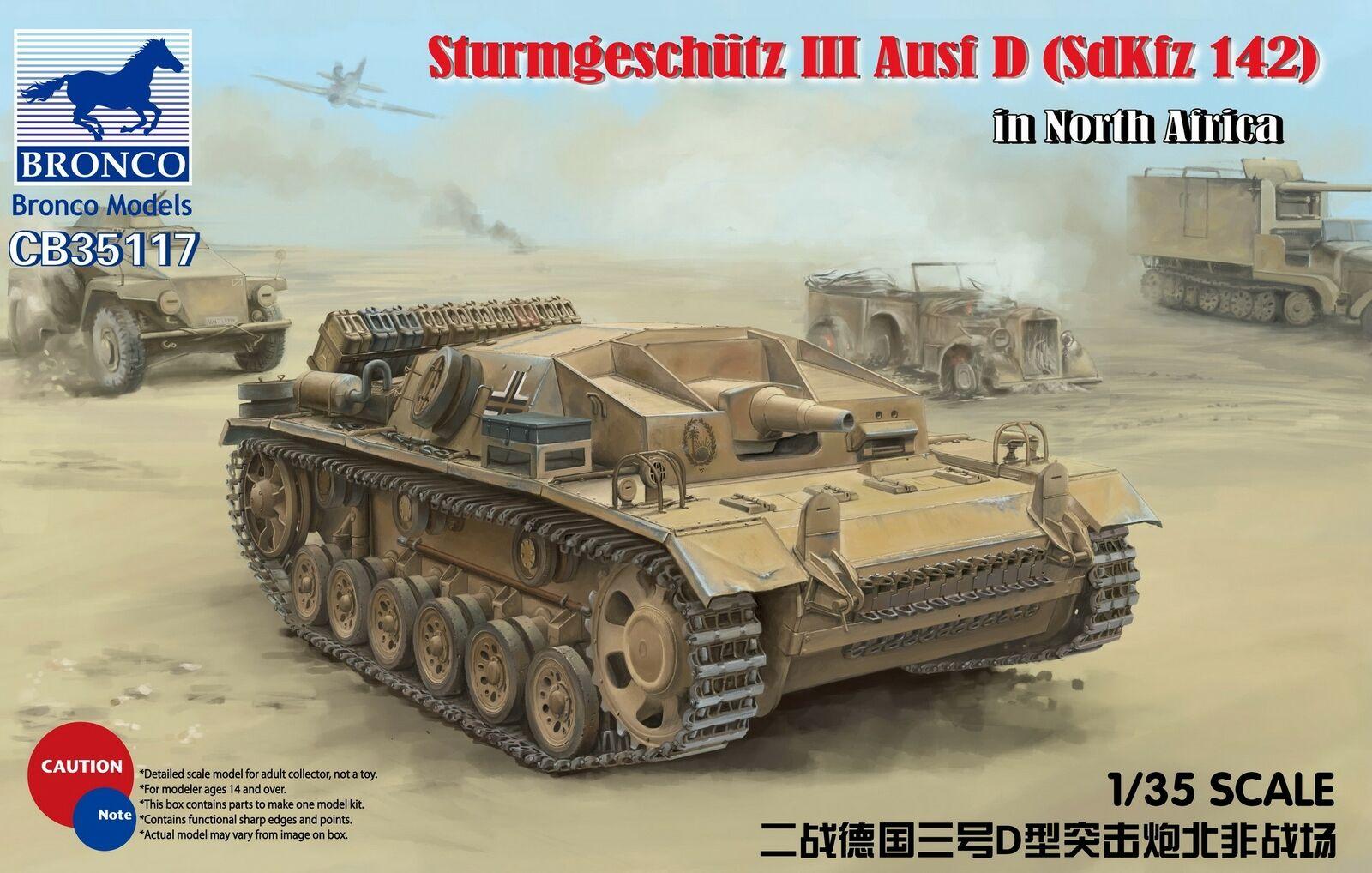 Bronco 1 35  Sturmgeschutz III Ausf D (SdKfz 142) in El Alamein CB35117