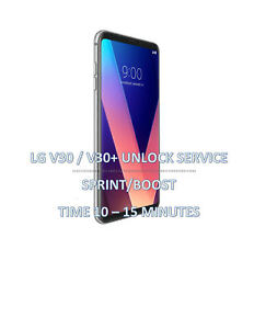 Details about SIM UNLOCK SERVICE SPRINT LG V30 and V30+ ( LS998XXX) BOOST  OR VIRGIN