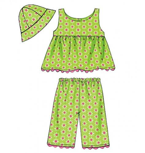tops culottes short... Butterick Toddlers Easy sewing pattern 5017 robes