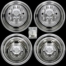 "FORD F450 F53 16"" 10 Lug Dual Wheel Simulators Dually Rim Liners Hub Caps Covers"