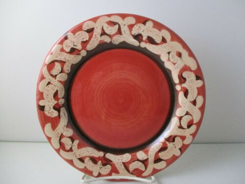 "8 1//4/"" 1210G VICKI CARROLL STUDIO SIL VOUS PLAIT SALAD PLATE RED"