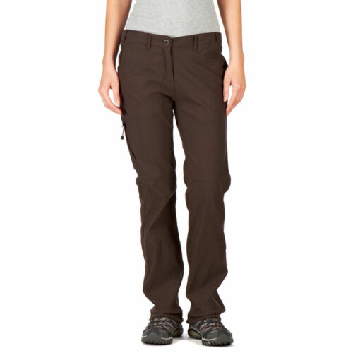 CRAGHOPPERS Womens Cocoa Brown NosiLife Light Hiking Trousers Size18L BNWT