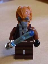 Lego Star Wars Plo Koon Figur Figuren Minifigs Kon Kun m. Laserschwert Waffe Neu
