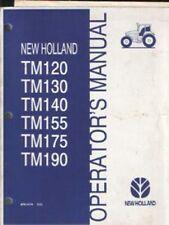 New Holland Tractor TM120 TM130 TM140 TM155 TM175 TM190 Operators Manual