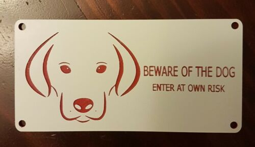 """BEWARE OF THE DOG"" SIGNS Outdoor Material"