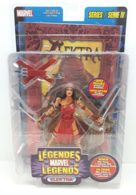 2002 Marvel Legends Series IV 4 ELEKTRA Figure MOC (Factory Sealed)