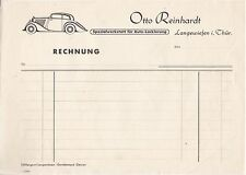 Briefpapier Otto Reinhardt Langewiesen Thüringen Auto-Lackierung Oldtimer