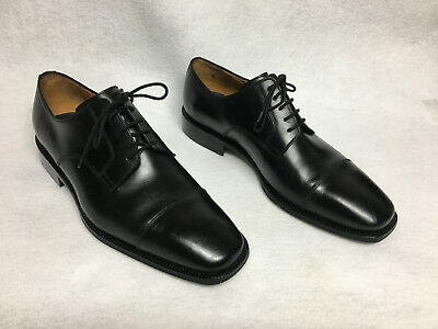 DAVIDE CENCI MENS BLACK LEATHER SHOES OXFORDS SZ 10 M MADE IN ITALY VERY NICE | eBay