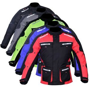 Men-039-s-Motorcycle-Motorbike-Jacket-Waterproof-Textile-CE-Armoured-Reflectors