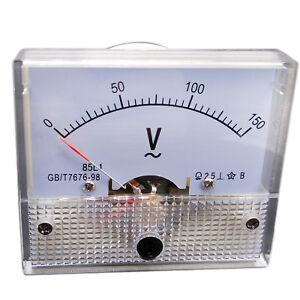US-Stock-Analog-Voltmeter-Panel-Pointer-Volt-Voltage-Meter-Gauge-85L1-AC-0-150V